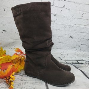 Emu Kimba Hi Chocolate Suede Slouch Boot 8